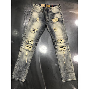 Makobi Dirty Wash Shredded Jeans (M1755)