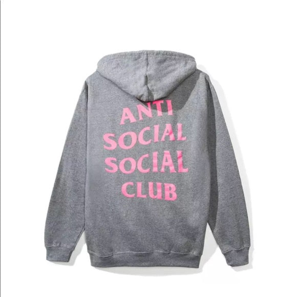 Anti Social Social Club Louisa Hoodie - Grey/Pink