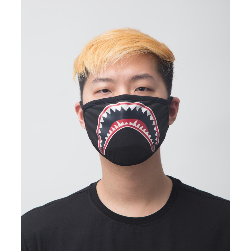 Hudson Shark Mouth Face Mask in Black