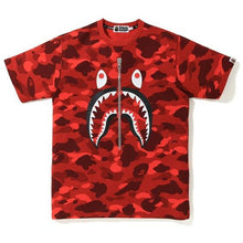 Load image into Gallery viewer, BAPE Color Camo Shark Tee - Red