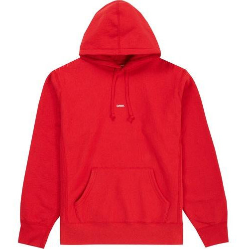 Supreme Micro Logo Hooded Sweatshirt - Red