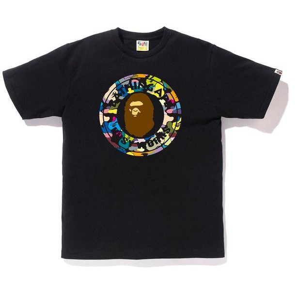 BAPE Multi Camo Busy Works Tee - Black/Black