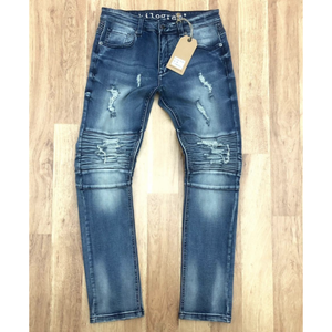 Kilogram Medium Blue Moto Jeans w/Backing