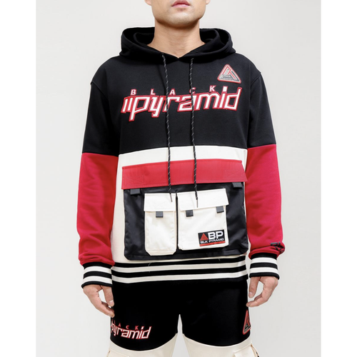 Black Pyramid Utility Travel Pocket Black Hoodie