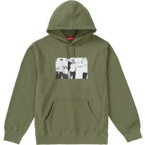 Supreme Classic Ad Hooded Sweatshirt - Light Olive