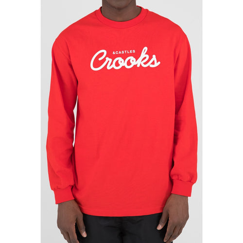 Crooks & Castles New Team Crooks L/S Tee Red