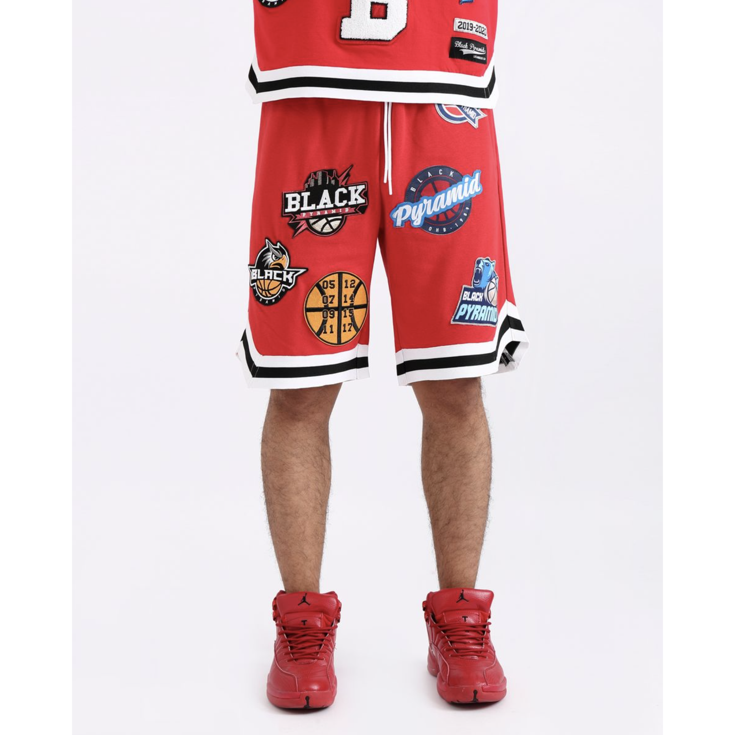 Black Pyramid Red Toss Shorts