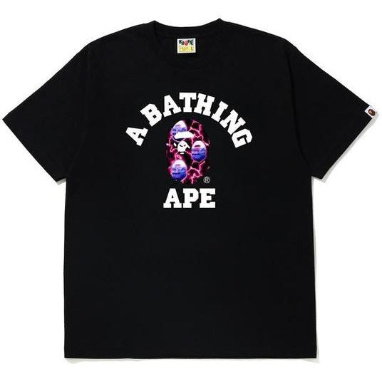 BAPE Lightning College Tee - Black/Black