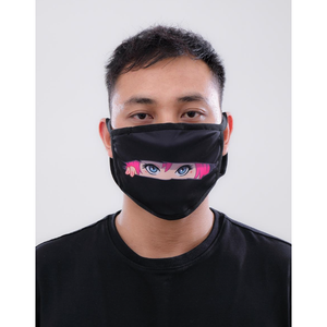 Black Pyramid Peeping Eyes Face Mask