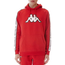 Load image into Gallery viewer, Kappa Red/White/Black Logo Tape Apet Hoodie (304M550-935)