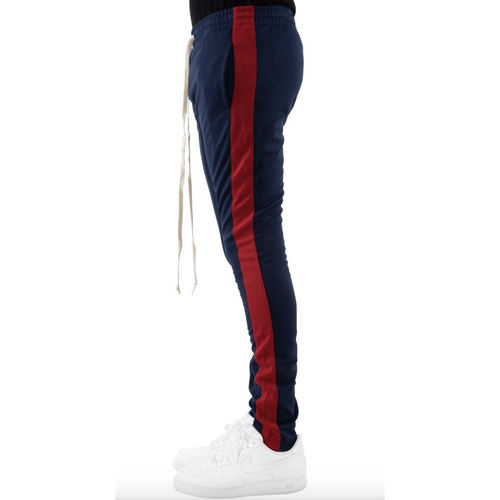 EPTM Navy Track Pants w/Red Stripe (w/Pull Strings)