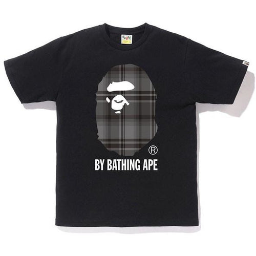 BAPE Check By Bathing Ape Tee - Black/Black