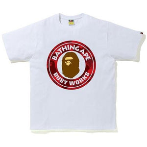 BAPE Color Camo Busy Works Tee - White/Red