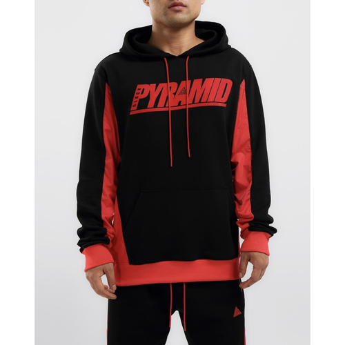 Black Pyramid Flight Inset Black Hoodie (Y5162085-BLK)