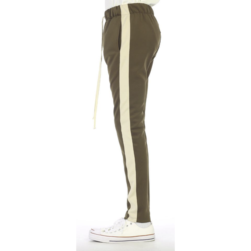 EPTM Olive track pants with Tan Stripe