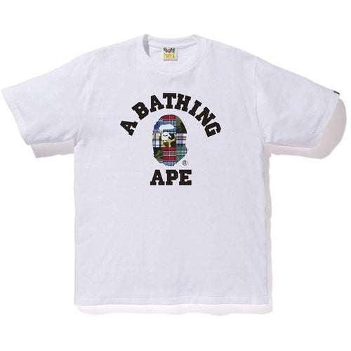 BAPE Patchwork College Tee - White