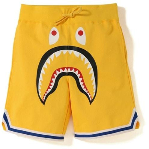 BAPE Shark Basketball Sweat Shorts - Yellow