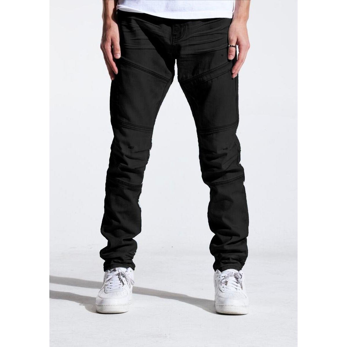 Crysp Denim Jet Black Kurt Denim Jeans (CRYSPJB-102)