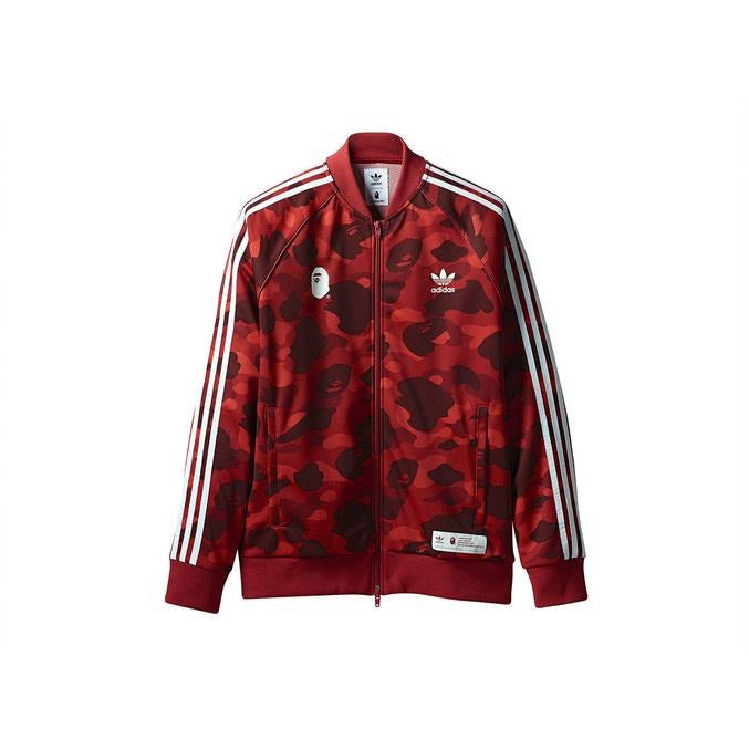 BAPE x adidas adicolor Track Top Raw - Red