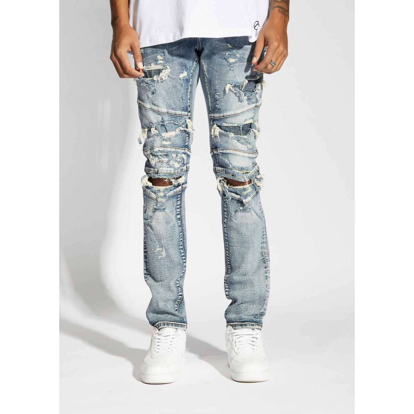 Crysp Denim Blue Montana Denim Jeans w/Tears (CRYSU219-113)