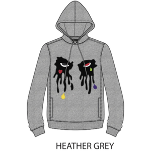 "Roku ""Tear Dripping"" Heather Grey Hoodie"