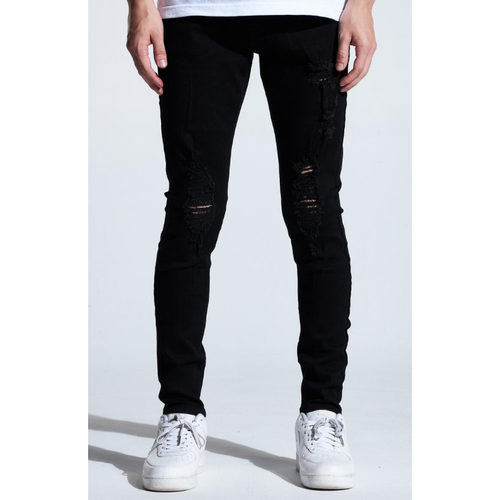 Karter Black Distressed Leonard Denim Jeans (KARHOL20-102)