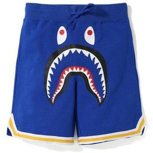 BAPE Shark Basketball Sweat Shorts - Blue