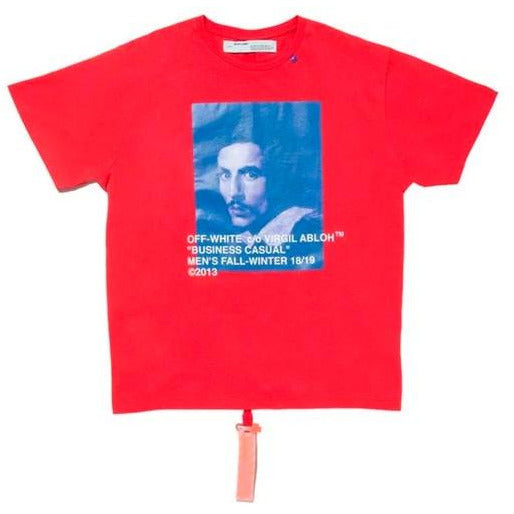 Virgil Abloh MCA Figures of Speech OFF-WHITE Bernini Tee - Red/Blue