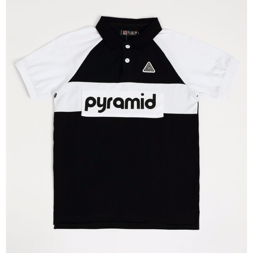 KIDS Black Pyramid Black Block Polo