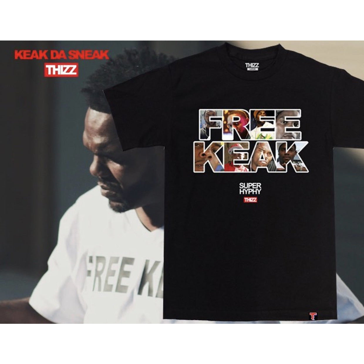 Free Keak T-Shirt By Thizz Nation Clothing