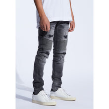 Load image into Gallery viewer, Embellish Dark Grey Goodwin Biker Jeans