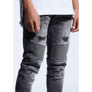 Embellish Dark Grey Goodwin Biker Jeans