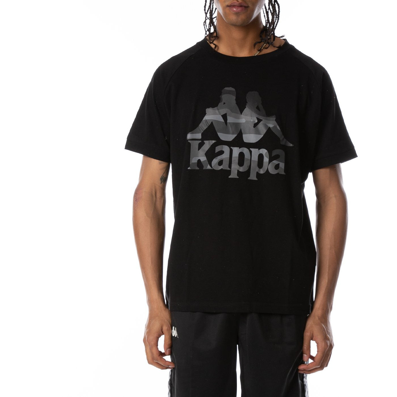Kappa Black Authentic Sand Cracken Tee (304SD40-005)