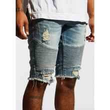 Load image into Gallery viewer, Embellish Light Blue Winslow Biker Shorts