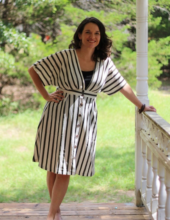 Just My Stripe Olive Dress
