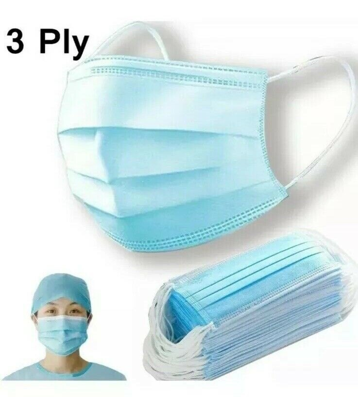 Special Prices ! 3000 PCS X Disposable Face / Mask 3-Ply Dust-proof Safe-Mask-Ear Loop