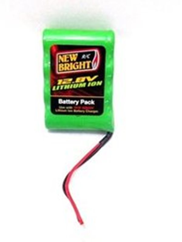 1 x Battery Pack Green 12.8 Volts w/ Connector for New Bright 1:12 R/C F/F Pro Wolf - 80810