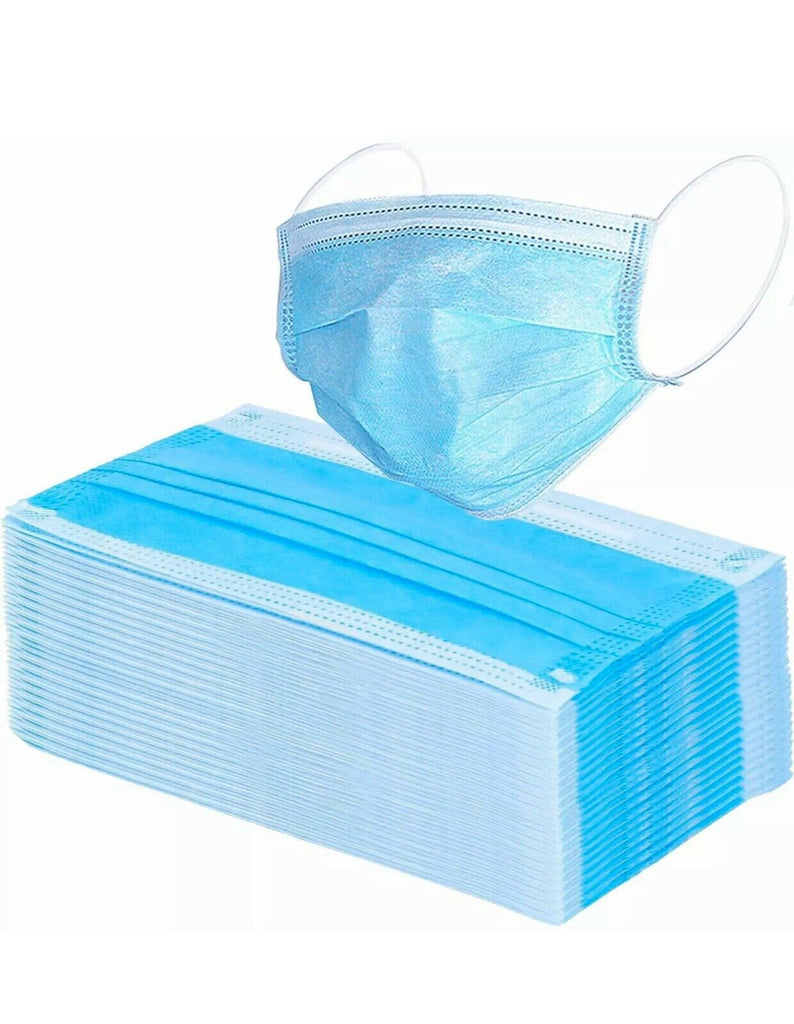 50 pcs X Disposable Face Mask 3-Ply Dust-proof Safe-Mask-Ear Loop