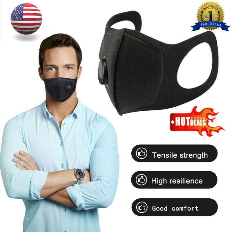 1 x Air Purifying Mask Mouth Muffle Carbon Filter Dust Haze Fog Respirator Health