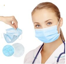 100 PCS x Disposable Face Mask 3-Ply Dust-proof Safe-Mask-Ear Loop