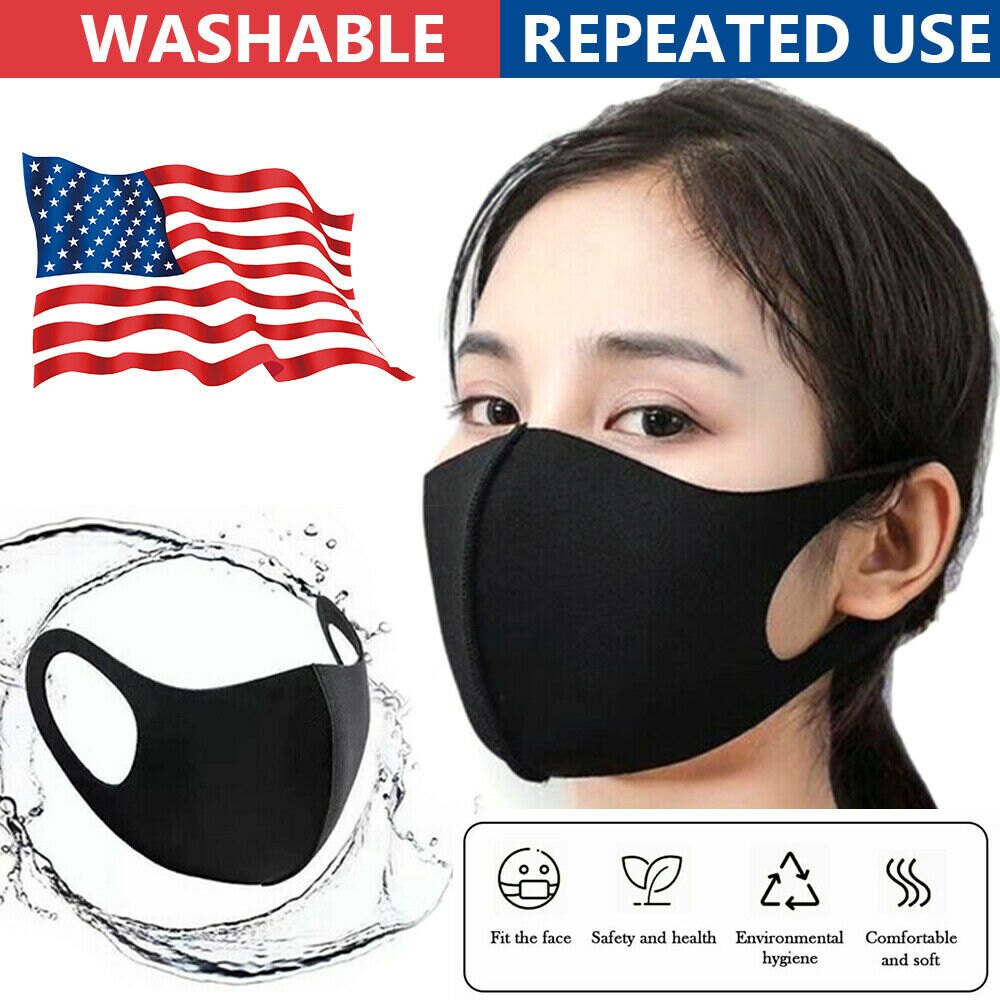 200 PCS x Washable Earloop Mask Cycling Anti Dust Mouth Face Mask Respirator