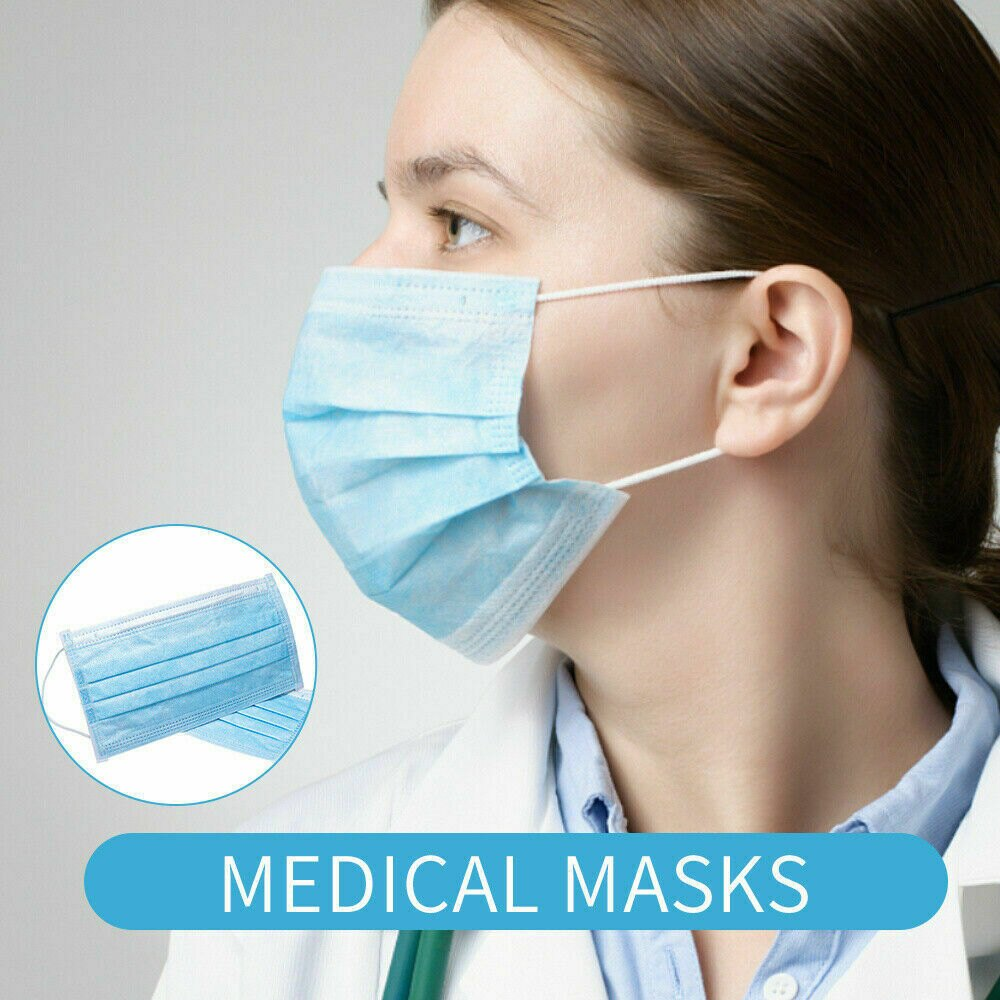 200 PCS x Disposable Face Mask 3-Ply Dust-proof Safe-Mask-Ear Loop