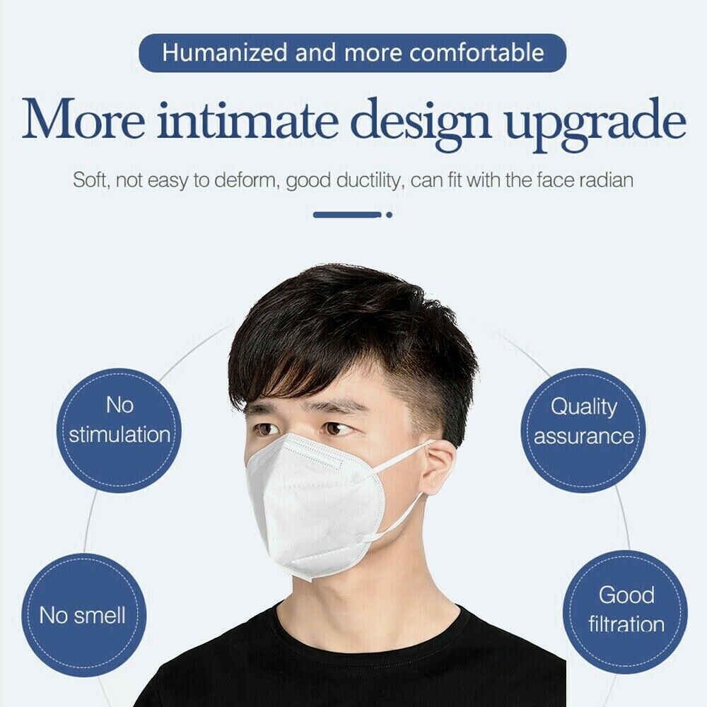 1 x Face Mask Original Lot Diposable Dental Dust Face KN95 PM2.5 Respirator
