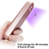 UV Light Sanitizer, Portable Travel Wand Ultraviolet Disinfection lamp Without Chemicals for Hotel Household Wardrobe Toilet Car Pet Area,Germ-Killing Function