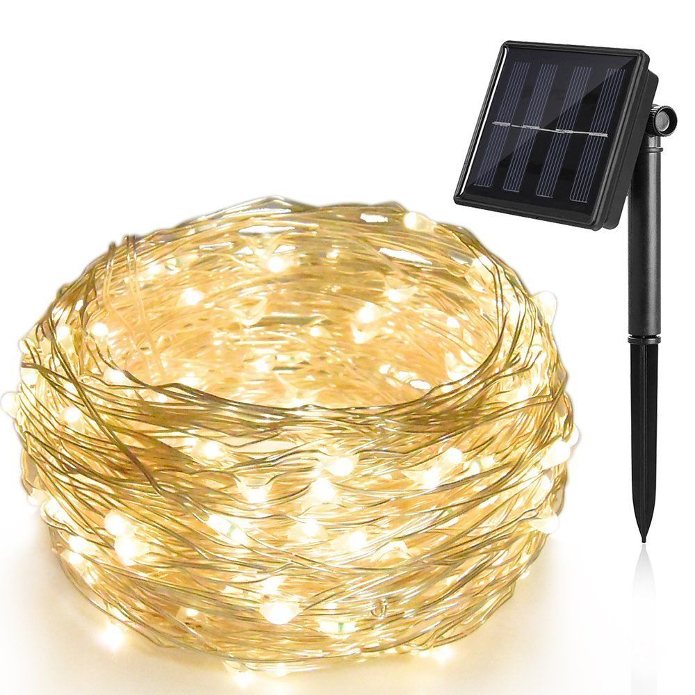 72ft 200 LED Solar Rope Light Sensor Strip String Outdoor Garden Xmas Party Lam