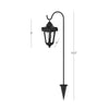 "32"" Solar Powered Hanging Coach Lanterns LED Lights by Pure Garden, Set of 2"