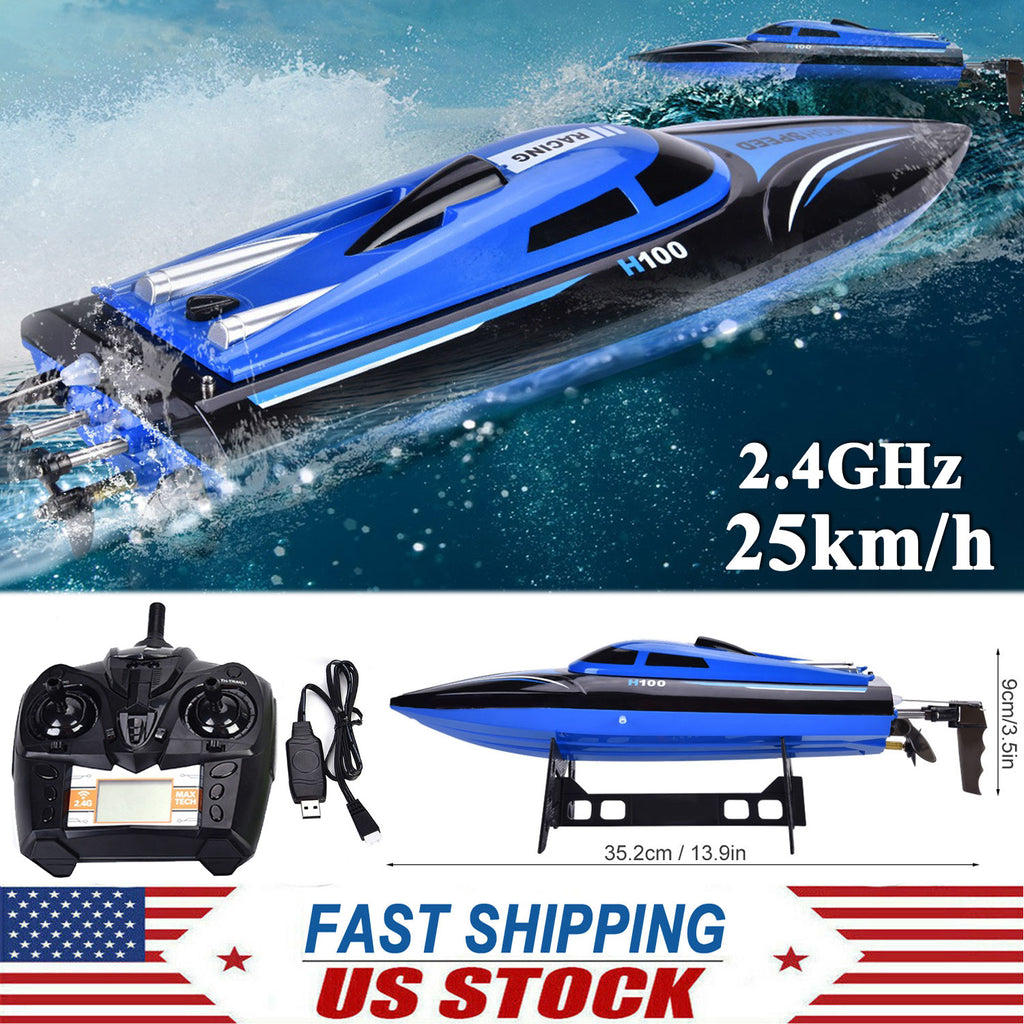 H100 2.4G 4CH RC Electric Toy High Speed Racing Boat 180° Flip Radio Controlled