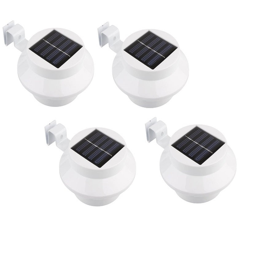 4-Pack: Solar Powered LED Lights for Gutters, Outdoors