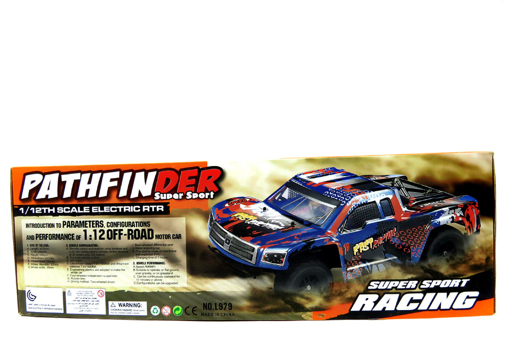 IBOT 1:12 2.4G Remote Controlled RC Pathfinder Remote Control Truck (Blue)
