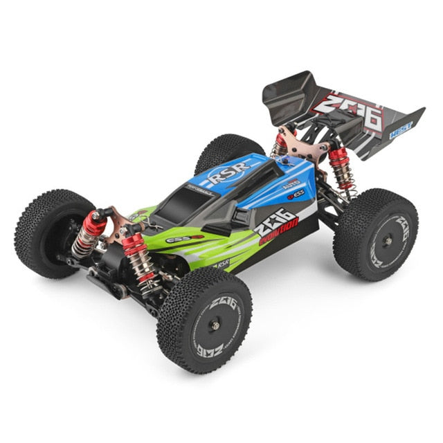 WLtoys 144001 1/14 2.4G Racing Remote Control Car Competition 60 km/h Metal Chassis 4wd Electric RC Formula Car USB Charging